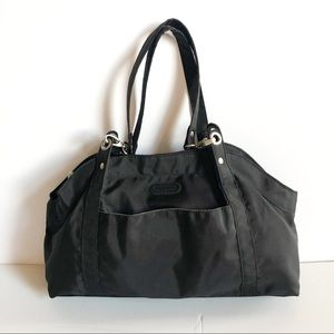 Baggallini Black Nylon Hampton Tote Bag